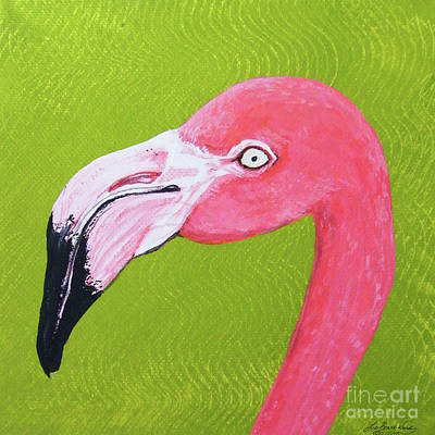 Flamingo Head Art Print