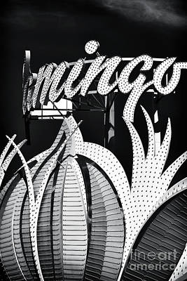 Flamingo Las Vegas Art Print by John Rizzuto