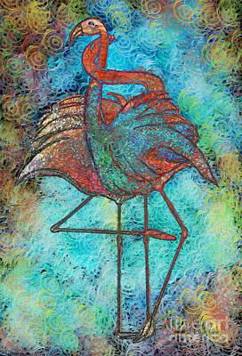 African-american Digital Art - Flamingo Love by Sydne Archambault
