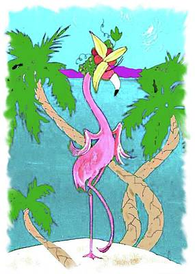 Painting - Flamingo Miranda by Lizi Beard-Ward