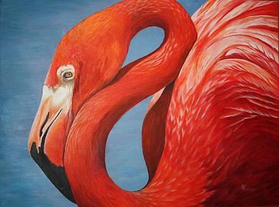 Flamingo Art Print by Pam Kaur