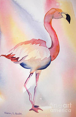Painting - Flamingo by Shirin Shahram Badie
