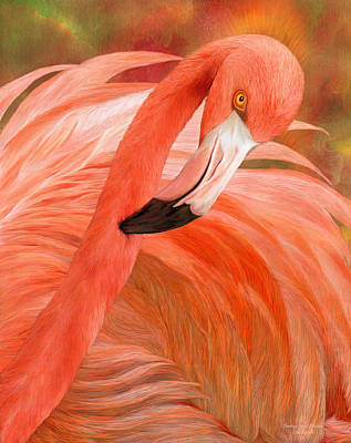 Mixed Media - Flamingo - Spirit Of Balance by Carol Cavalaris