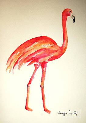 Painting - Flamingo Strut by Tamyra Crossley