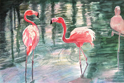 Painting - Flamingo Time by Mickey Krause