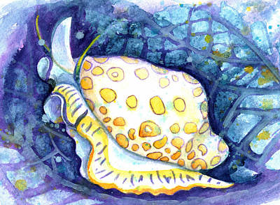 Flamingo Tongue Art Print