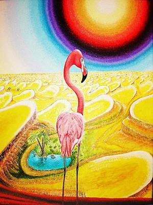 Flamingo Art Print by Viktor Lazarev