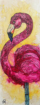 Painting - Flamingo Yo by Christy Freeman Stark
