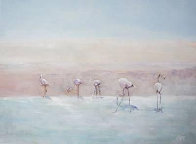 Painting - Flamingos Peru by David  Hawkins