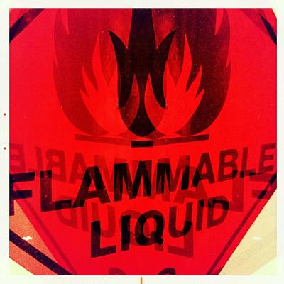 Photograph - Flammable Liquid by Marco Oliveira