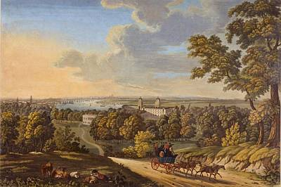 City Scenes Drawing - Flamstead Hill, Greenwich The by English School