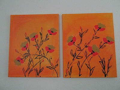 Art Print featuring the painting Flanders Poppies by Sharyn Winters