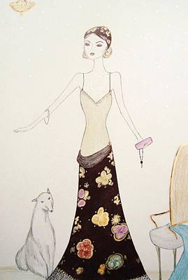 Flapper Girl Art Print by Christine Corretti