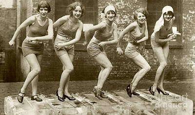 Photograph - Flapper Girls by Jon Neidert