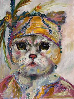Flapper Kitten  Art Print