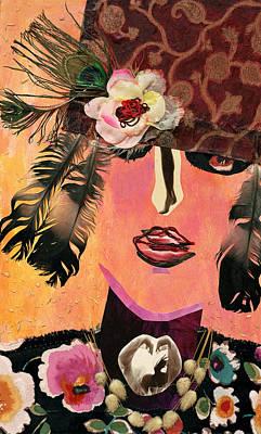 Flapper Lady Art Print