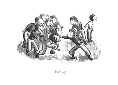 Playing Drawing - Flareup by William Steig