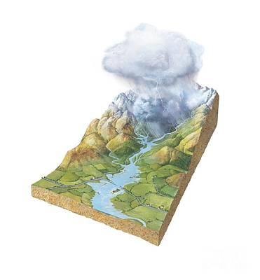 Flash Flooding, Artwork Art Print