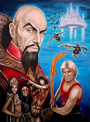 B-movie Painting - Flash Gordon by Al  Molina