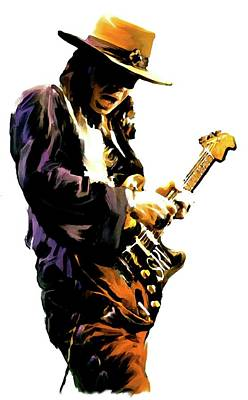 Flash Point     Stevie Ray Vaughan Original by Iconic Images Art Gallery David Pucciarelli