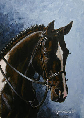 Horse Painting - Flash by Richard De Wolfe