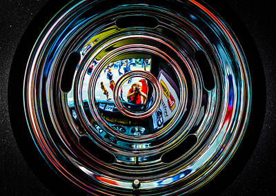 Photograph - Portrait Of The Artist In A Wheel by Ronda Broatch