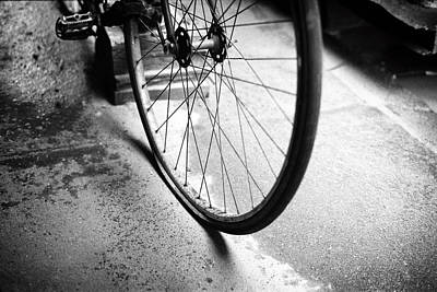 Photograph - Flat Bicycle Tire by Dave Beckerman