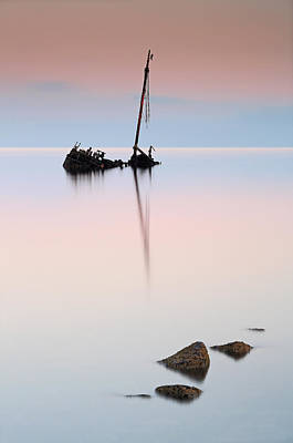 Photograph - Flat Calm Shipwreck  by Grant Glendinning