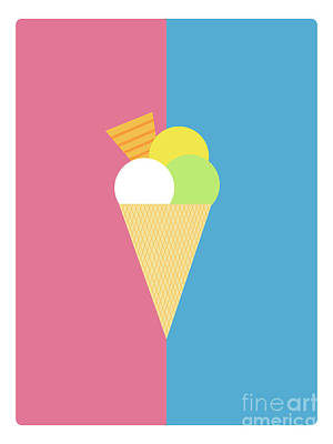 Digital Art - Flat Design Ice Cream by Michal Hostovecky