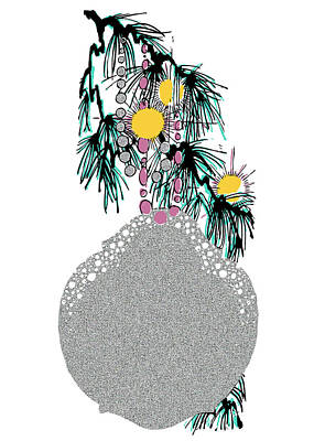 Doily Digital Art - Flat Doily Tree Ornament by Stan  Magnan