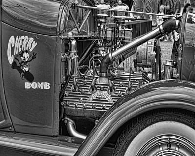 Photograph - Flat Head V8 by Ron Roberts