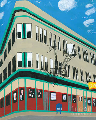 New Mind Painting - Flat Iron Building by Dennis ONeil