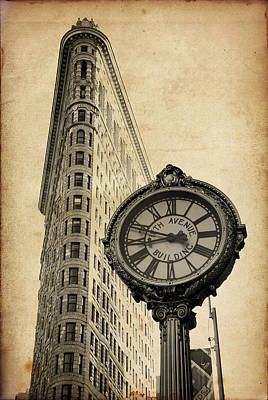 Photograph - Flat Iron Building In New York City by Songquan Deng