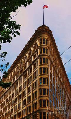 Flat Iron Building. S. F. Art Print by Marcus Dagan