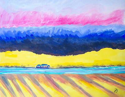 Painting - Flat Land 1 by Jutta B