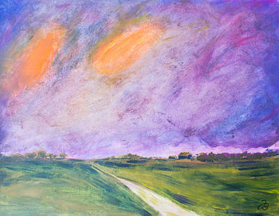 Painting - Flat Country Side by Jutta B