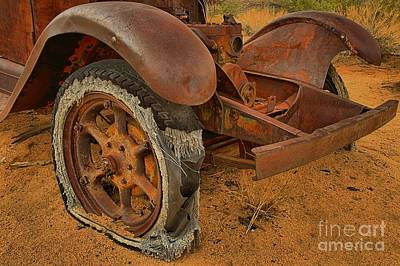 Mining Truck Photograph - Flat Tire by Adam Jewell