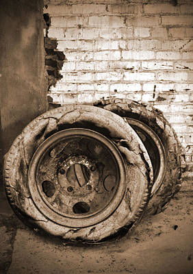 Photograph - Flat Tires by Holly Blunkall