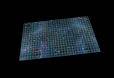 Flat Universe, Artwork Art Print by Science Photo Library