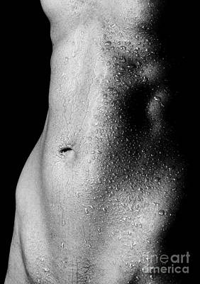 Female Bodybuilder Photograph - Flat Wet Abs by Jt PhotoDesign