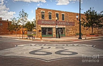Flatbed Ford And Winslow Route 66 Art Print