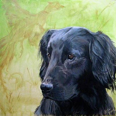 Gold Labrador Painting - Shelly by Kelci Pauk
