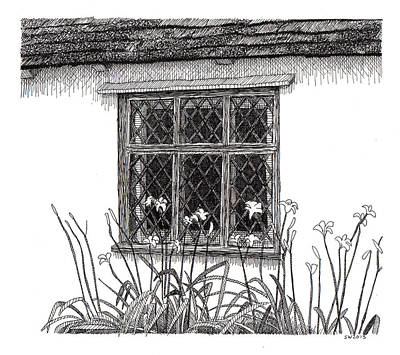 Drawing - Flatford Mill by Scott Woyak