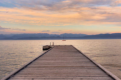 Photograph - Flathead Lake Sunset by Adam Mateo Fierro