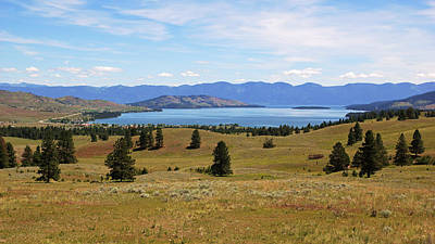 Flathead Lake View Art Print