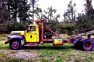 Photograph - 1948 Flathead V-8 Ford Truck by Sadie Reneau