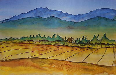 Tapestry - Textile - Flathead Valley 1 by Carolyn Doe