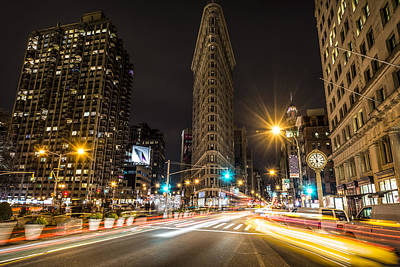 Photograph - Flatiron Building At Night by David Morefield