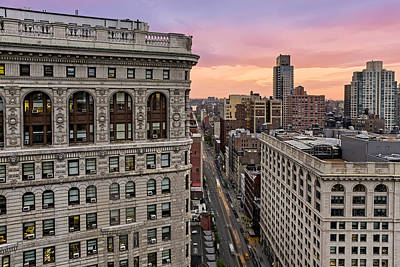 Flatiron Building At Sunset Art Print
