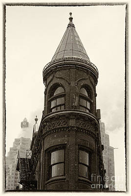 Photograph - Flatiron Building In Toronto - B W by Les Palenik